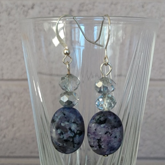 Fashion Jewelry Jewelry - Genuine Amethyst and Crystal Earrings